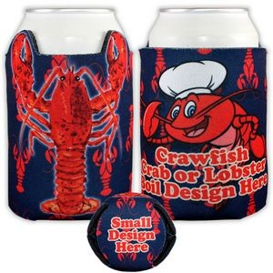 Crazy Frio� Crawfish Beverage Insulator (4CP/ Dye Sublimation)